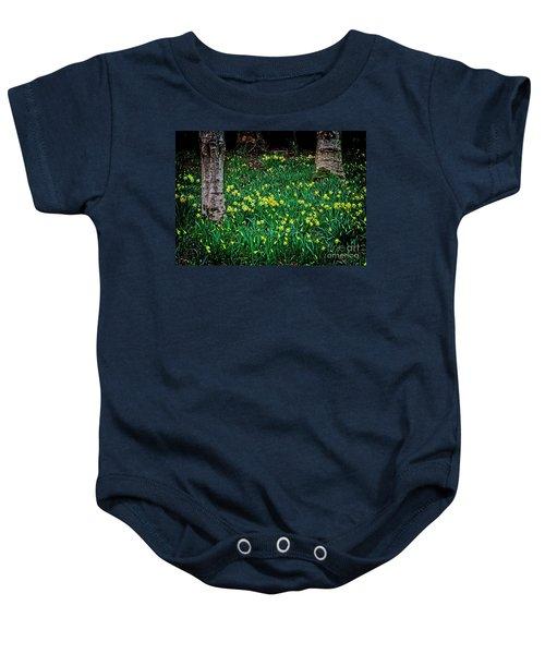 Spring Daffoldils Baby Onesie