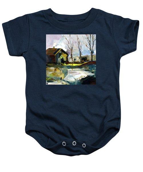 Springtime Barn Baby Onesie