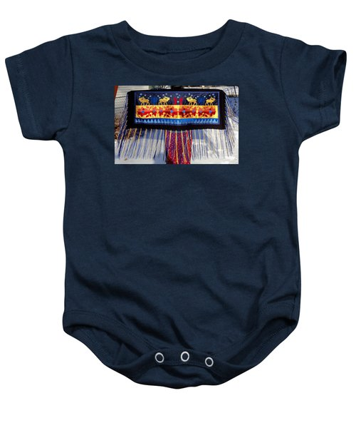 Baby Onesie featuring the tapestry - textile Star Whistling by Chholing Taha