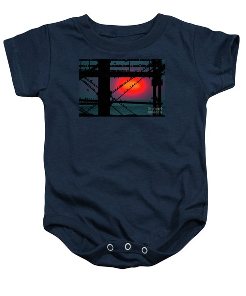 Starlings Against The Setting Sun Baby Onesie