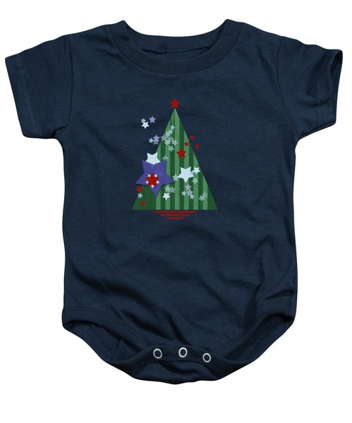 Stars And Stripes - Christmas Edition Baby Onesie