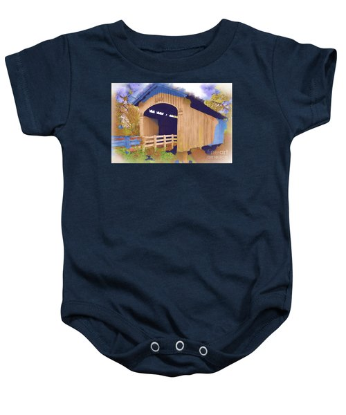 Stewart Bridge In Watercolor Baby Onesie