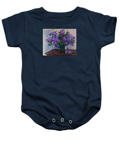Still Life With Lilac  Baby Onesie