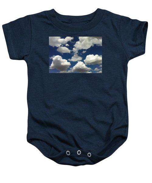 Summer Clouds In A Blue Sky Baby Onesie