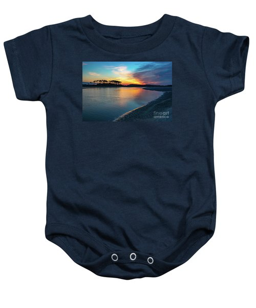 Summer Sunrise At The Inlet Baby Onesie