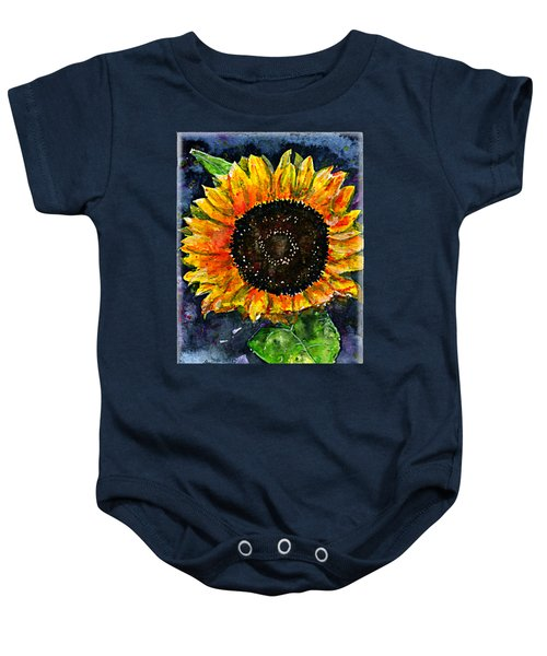 Sunflower Shirt Baby Onesie