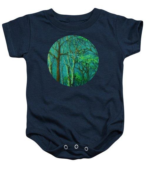 Sunlit Woodland Path Baby Onesie