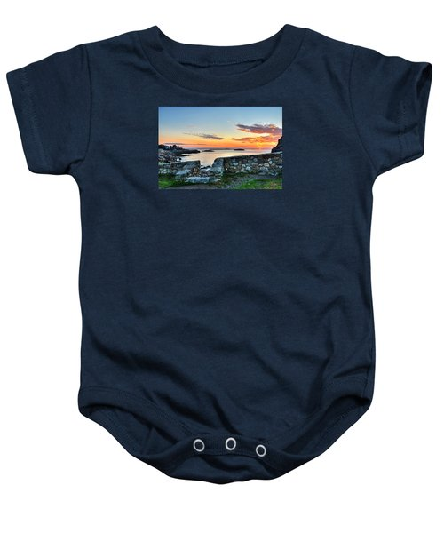 Sunrise At Castle Rock Marblehead Ma Baby Onesie