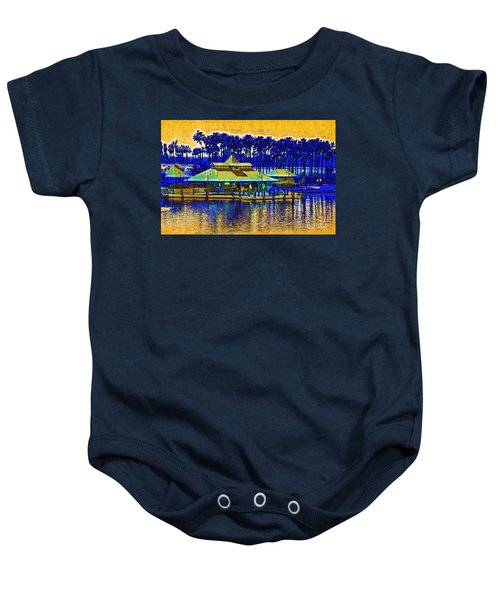 Sunrise At The Boat Dock Baby Onesie