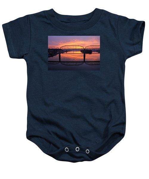 Sunrise Walnut Street Bridge 2 Baby Onesie
