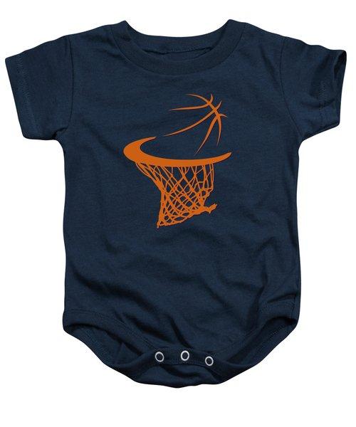 Suns Basketball Hoop Baby Onesie