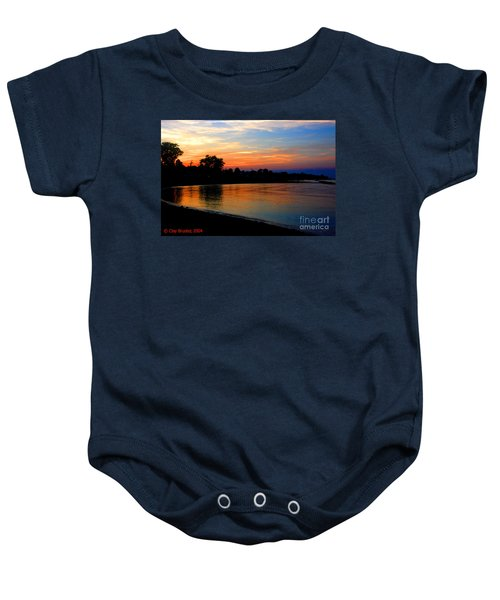Sunset At Colonial Beach Cove Baby Onesie