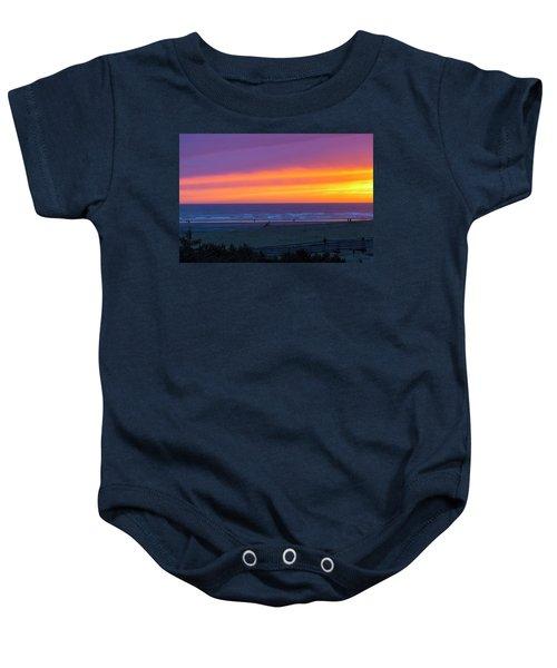 Sunset At Long Beach Washington Baby Onesie