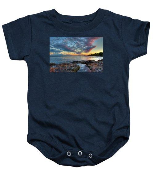 Sunset On Lake Superior Baby Onesie