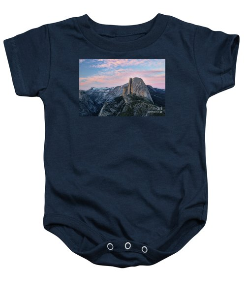 Baby Onesie featuring the photograph Sunset Over Half Dome by Vincent Bonafede