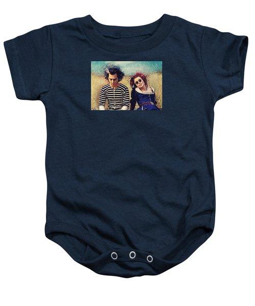 Sweeney Todd And Mrs. Lovett Baby Onesie by Taylan Apukovska