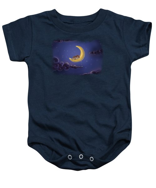 Baby Onesie featuring the drawing Sweet Dreams by Julia Art
