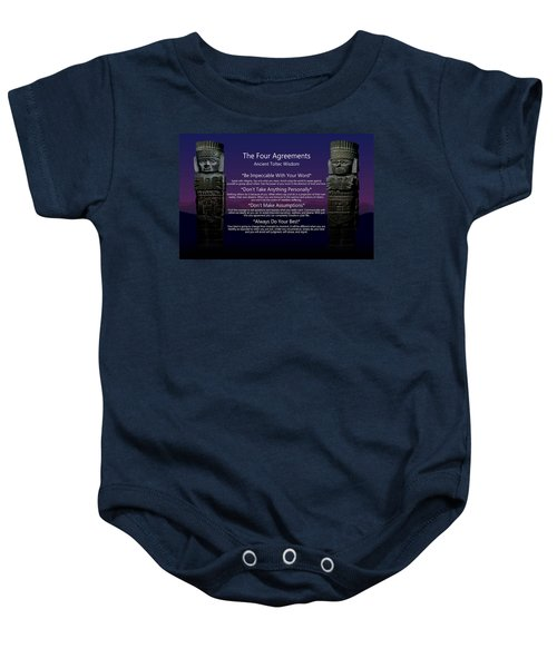 The Four Agreements Poster Baby Onesie