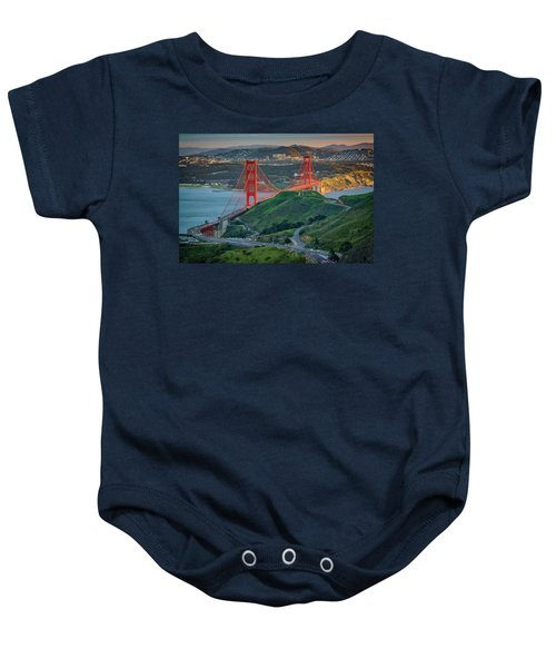 The Golden Gate At Sunset Baby Onesie