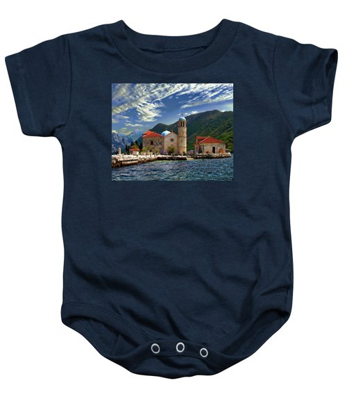 The Lady Of The Rocks Baby Onesie
