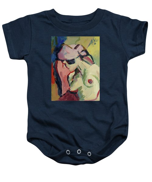 The Lady Without A Pearl Baby Onesie