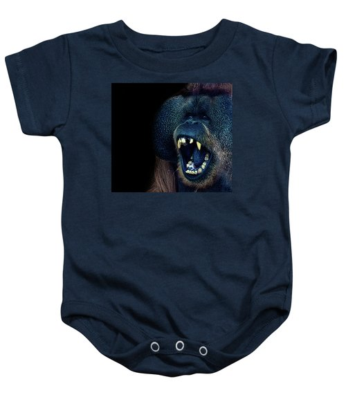 The Laughing Orangutan Baby Onesie