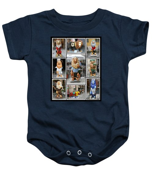 The Lions Of Munich Baby Onesie
