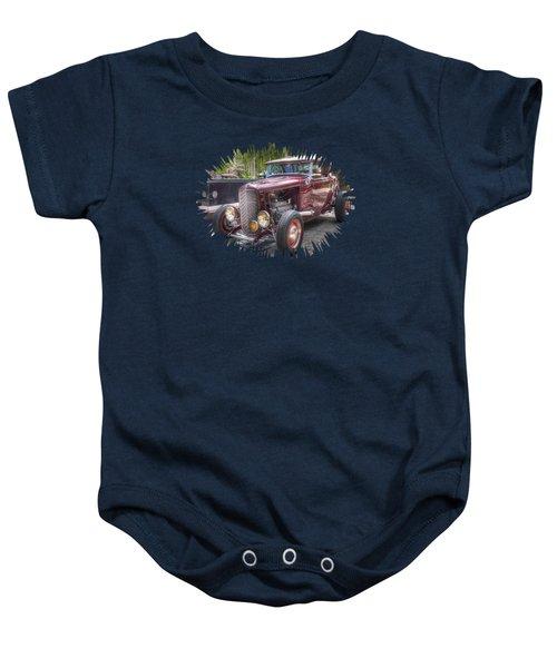 Maroon T Bucket Baby Onesie