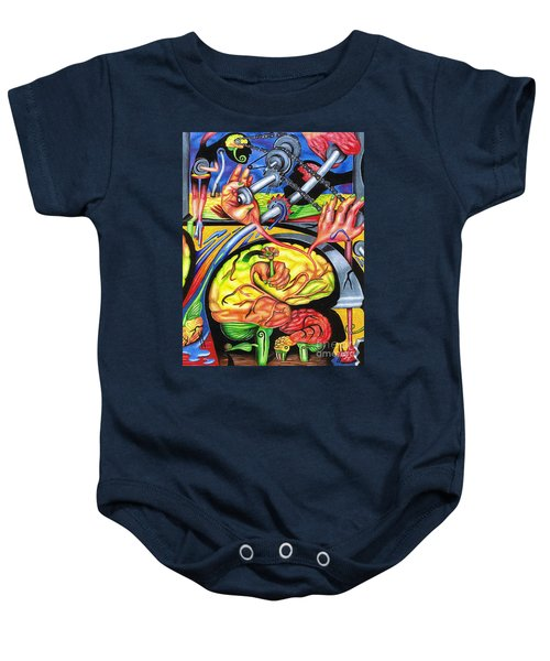 The Mechanics Of Consciousness Baby Onesie