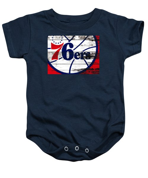 The Philadelphia 76ers 3e       Baby Onesie by Brian Reaves