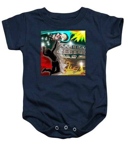 The Power Of Volleyball Baby Onesie