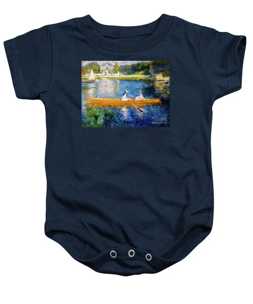 Renoir Boating On The Seine Baby Onesie