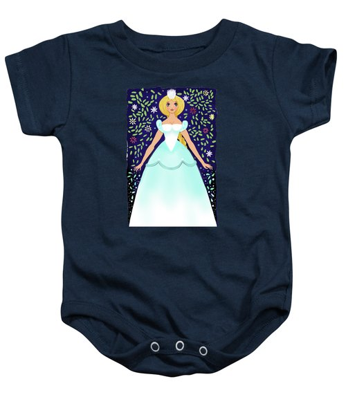 The Winter Fairy Brings The First Frost  Baby Onesie by Little Bunny Sunshine