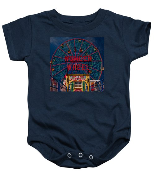 The Wonder Wheel At Luna Park Baby Onesie
