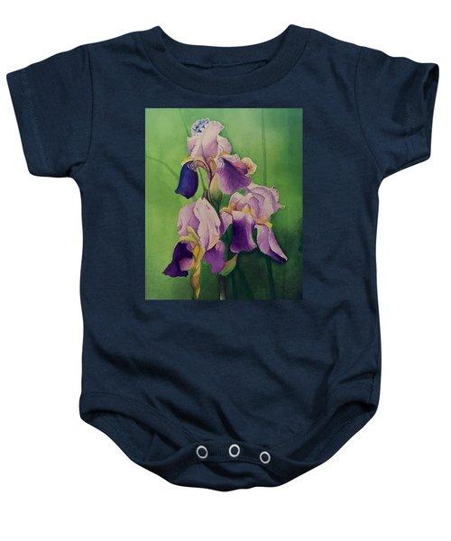 Three Iris Baby Onesie