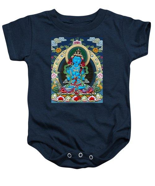 Tibetan Thangka -  Vajradhara Baby Onesie by Serge Averbukh