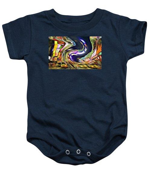 Times Square Swirl Baby Onesie