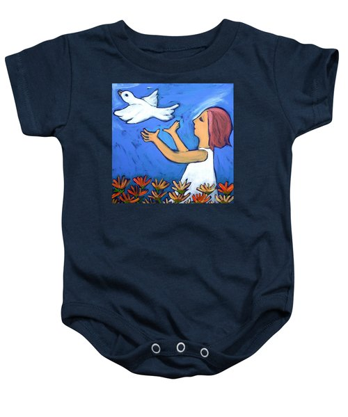 Baby Onesie featuring the painting To Fly Free by Winsome Gunning