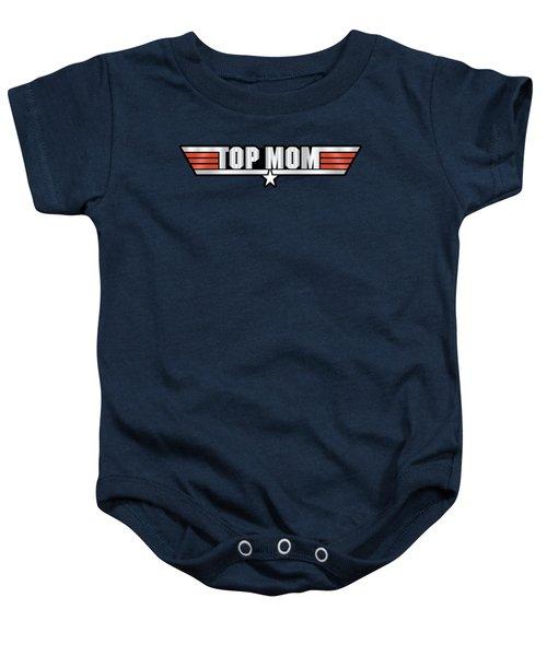 Top Mom Callsign Baby Onesie by Fernando Miranda