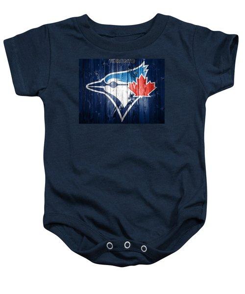 Toronto Blue Jays Barn Door Baby Onesie