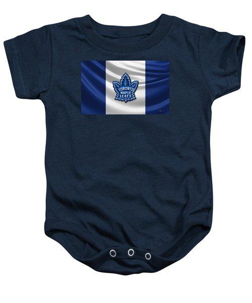Toronto Maple Leafs - 3d Badge Over Flag Baby Onesie