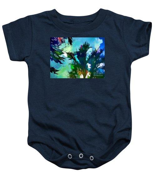 Tree Spirit Abstract Digital Painting Baby Onesie