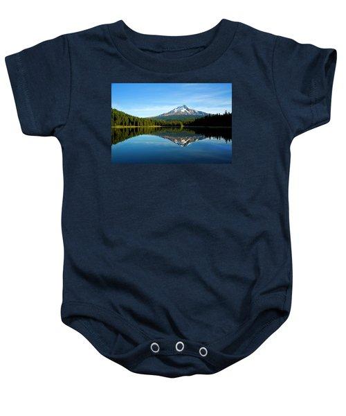 Trillium Lake Mt Hood Fall Baby Onesie