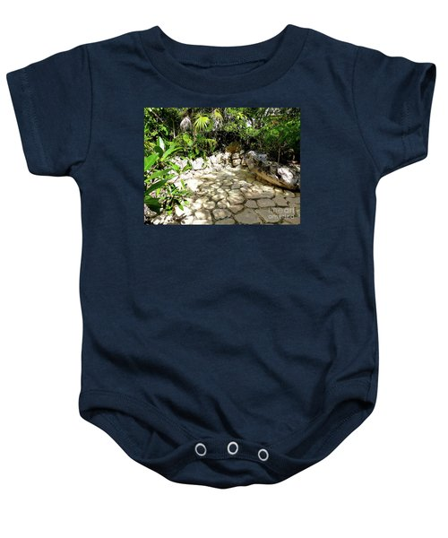 Baby Onesie featuring the photograph Tropical Hiding Spot by Francesca Mackenney