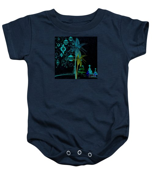 Tropical Holiday Blue Baby Onesie