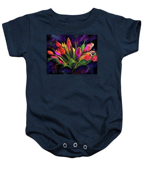 Tulips Baby Onesie