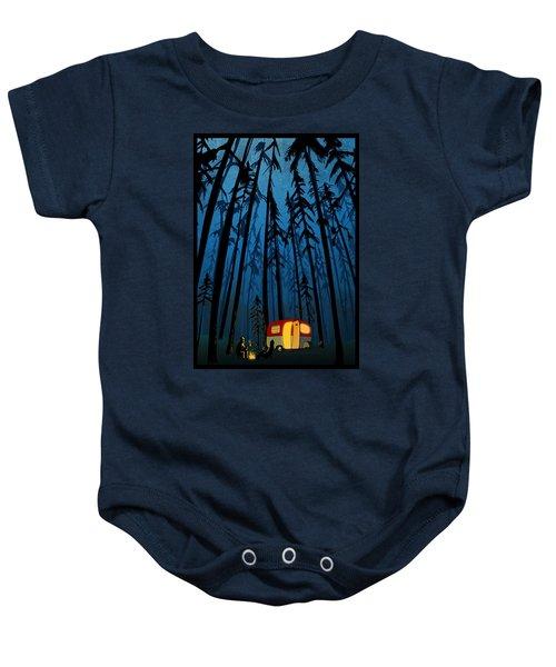 Twilight Camping Baby Onesie