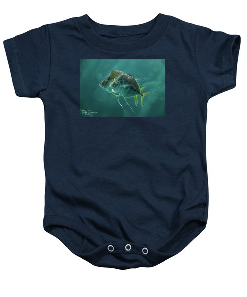 Two In Turquoise Baby Onesie