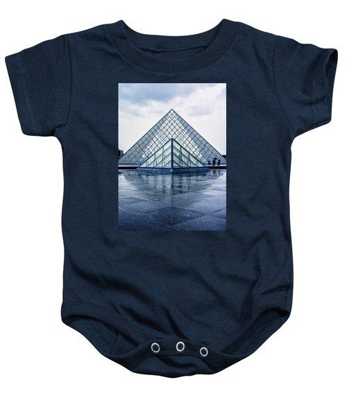 Two Louvre Pyramids Paris Baby Onesie