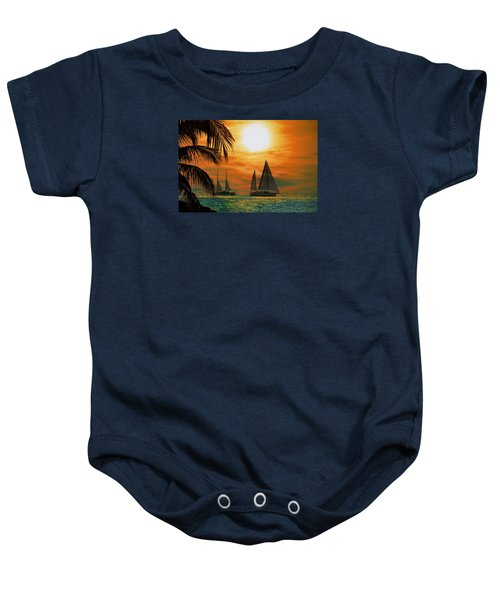 Two Ships Passing In The Night Baby Onesie